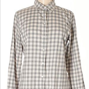 Banana Republic checkered button down.